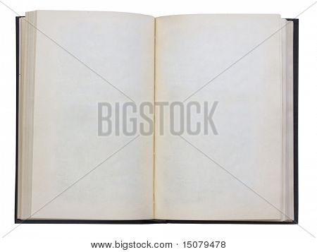 leere offenes Buch isolated on white Background with Clipping path
