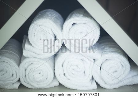 Towels In Health Center Spa