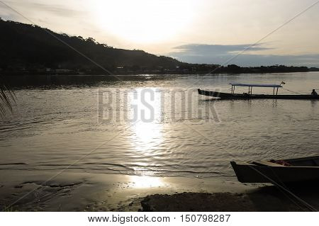 Boats On Beni River, Rurrenabaque, Bolivia