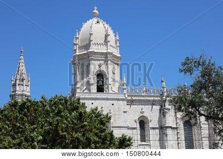 Mosteiro Dos Jeronimos (Monastery of the Hieronymites) in Lisbon. Portugal