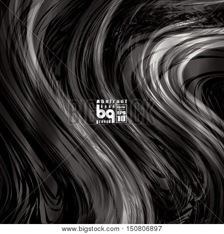 Vector design black and white abstract background futuristic illustration glitch infinity