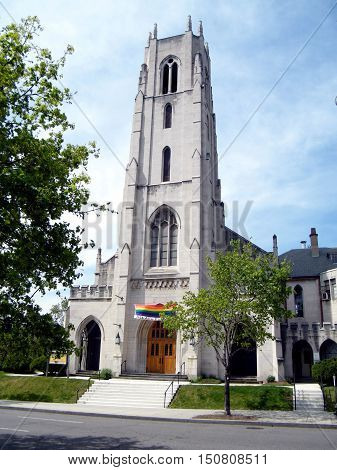 The Church of the Pilgrims in Washington USA April 7 2010