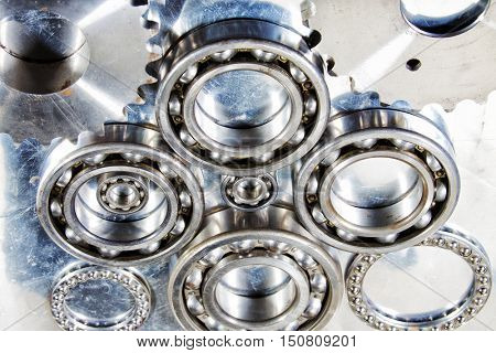 ball-bearings of titanium and steel, aerospace parts
