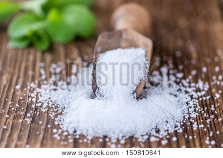 Portion Of Stevia Granules (selective Focus)