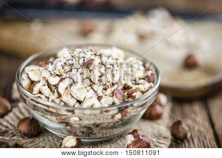 Chopped Hazelnuts (selective Focus)