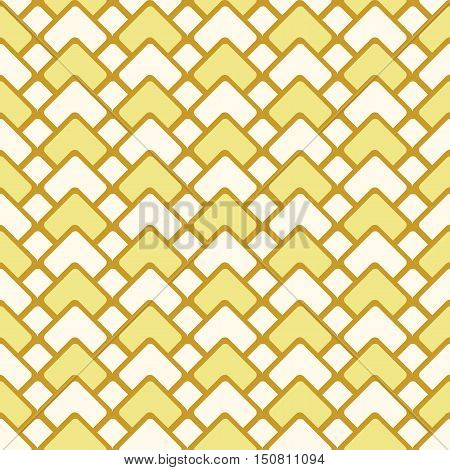 Vector Seamless Pattern With Triangels And Squares. Abstract Orange Backgraund
