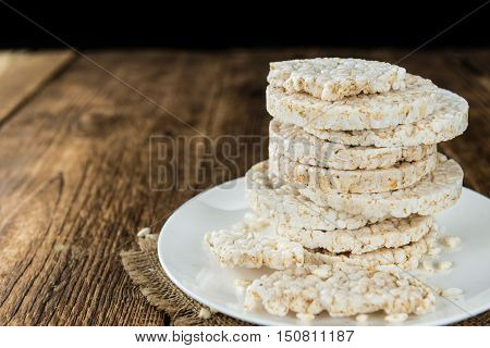Portion Of Rice Cakes