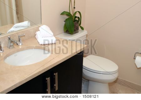 Bathroom With Marble Vanity Top