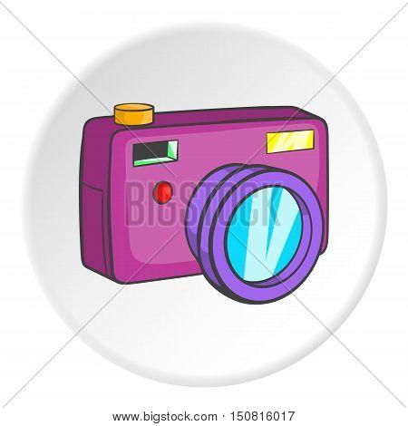 Camera icon. Cartoon illustration of camera vector icon for web