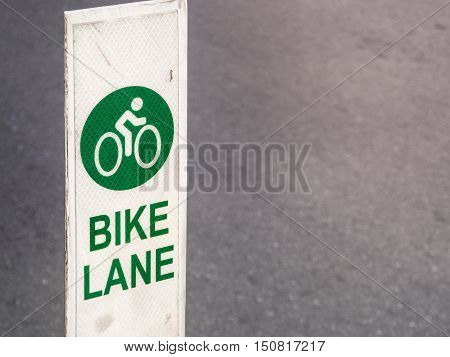 Bike lane sign traffic for bicycles in the city, With place your text (bicycle, sign, traffic)