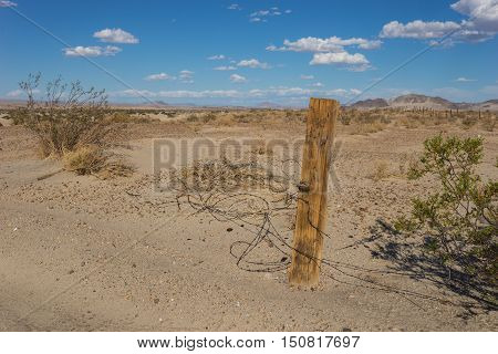 Remains Of Barbed Wire Fence