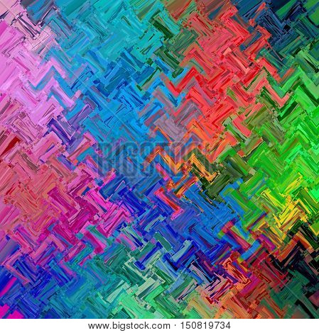 Abstract coloring background of the spectrum gradient with visual mosaic,octagon,wave and spherize effects.Good for your project design