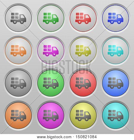 Set of transport plastic sunk spherical buttons.