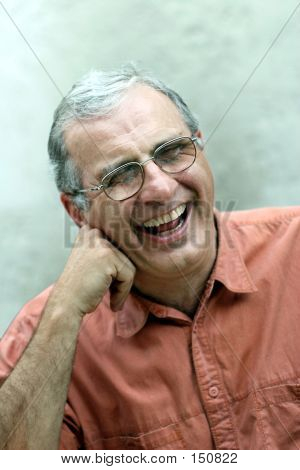 Mature Man Laughing