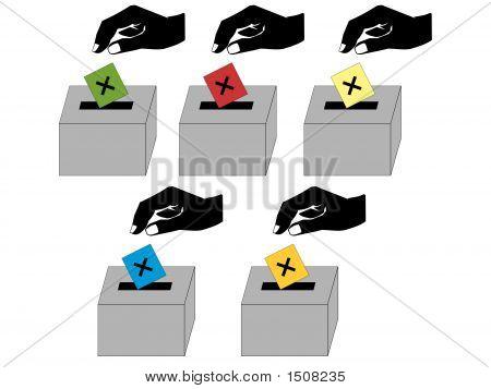 Pessoas a votar
