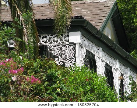 Old Wooden Paneled, Rustic, Veranda Walls, From Early Last Century