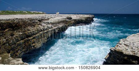 Rock Formations And Aquamarine Waters  Near Devils Bridge - 2
