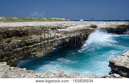 Rock Formations And Aquamarine Waters  Near Devils Bridge - 5