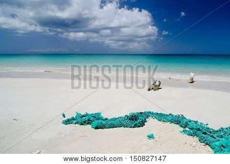 Abandoned Fishnet At Ffryes Beach - 3