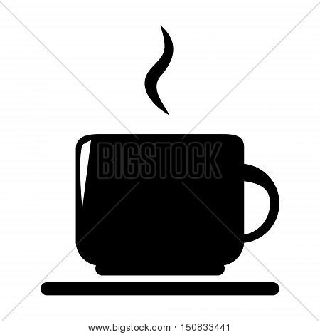 Vector silhouette of coffee and tea cup.