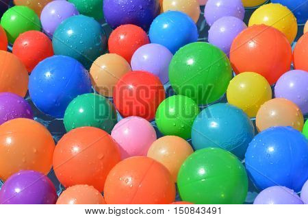 Colorful Balls Abstract Background Texture.