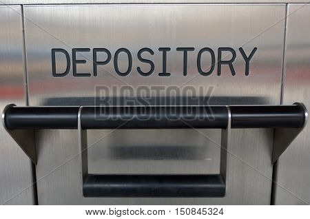 Bank deposit box. Money and banking concept background