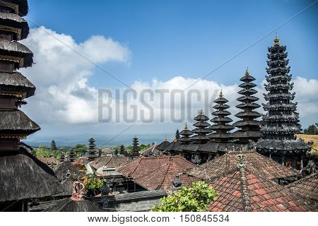 Pura besakih mother temple Bali Indonesia near Gunung Agung 9