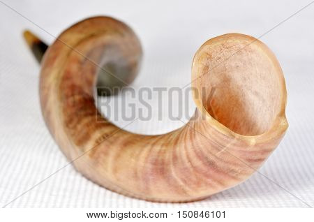 Selective Focus Of Shofar (horn)