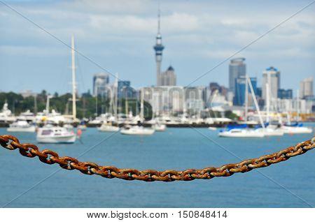 Auckland City Skyline - New Zealand