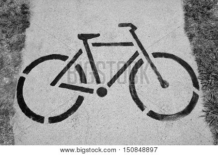 Bicycle Sign Of Cycle Trail