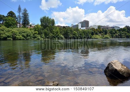 Waikato River Passing Through Hamilton, New Zealand