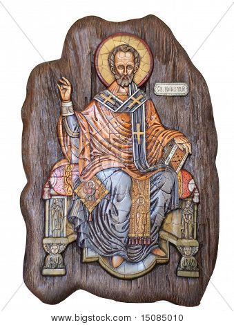 Saint Nicholas wooden icon