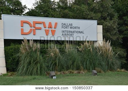 DALLAS, TX - SEP 19: Dallas-Forth Worth International Airport in Texas, as seen on Sep 19, 2016. It is the largest hub for American Airlines, which is headquartered near the airport.