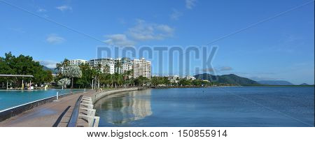 Panoramic View Of Cairns Waterfront Skyline