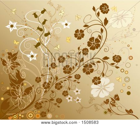 Beautiful Nature Decoration Floral Vector Background