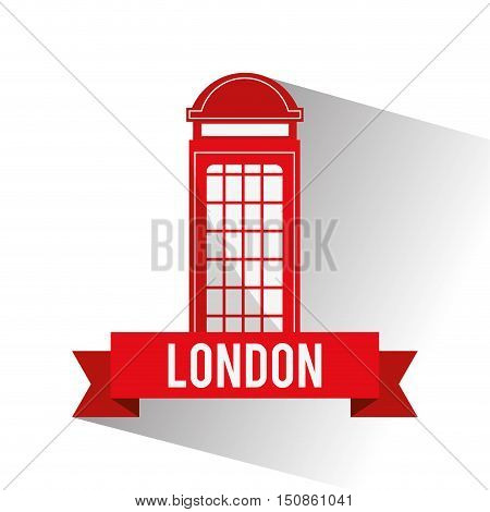 Telephone icon. London england landmark and tourism theme. Colorful design. Vector illustration