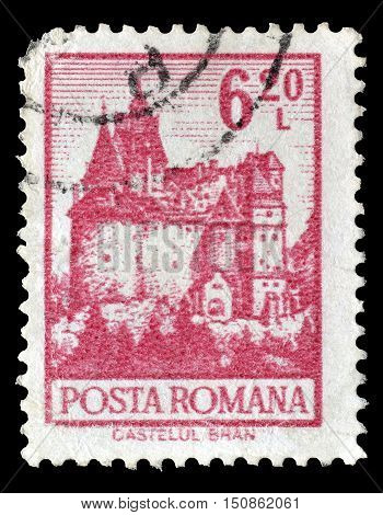 ROMANIA - CIRCA 1972 : Cancelled postage stamp printed by Romania, that shows Bran castle.