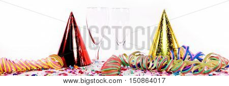 New Year Decoration With Sparkling Wine