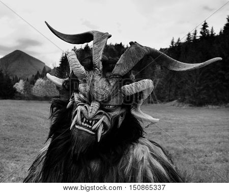 Man In Krampus Costume