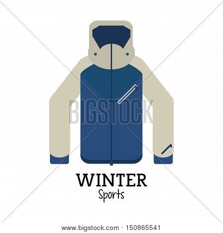 Jacket icon. Winter sport hobby and recreation theme. Isolated design. Vector illustration
