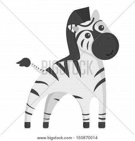 Zebra monochrome icon. Illustration for web and mobile.