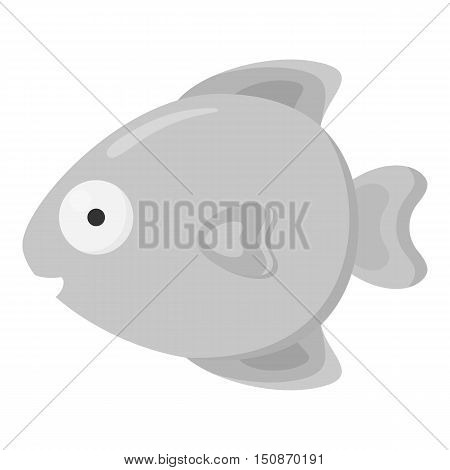 Fish monochrome icon. Illustration for web and mobile.