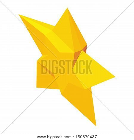 Magic Star icon in isometric 3d style isolated on white background vector illustration