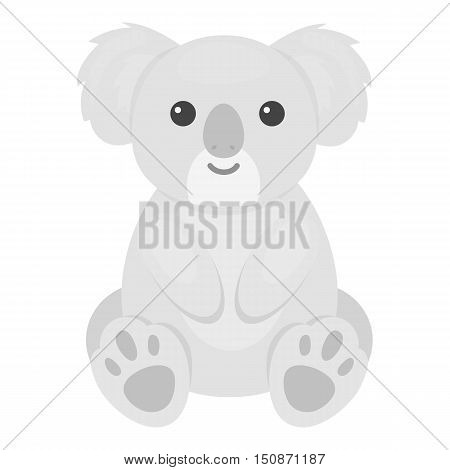Koala icon monochrome. Singe animal icon from the big animals monochrome.