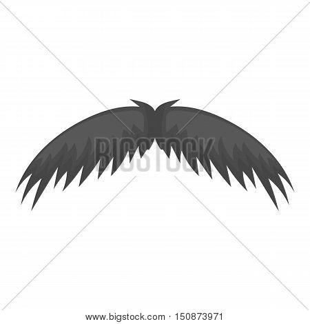 Man's mustache icon in monochrome style isolated on white background. Beard symbol vector illustration.