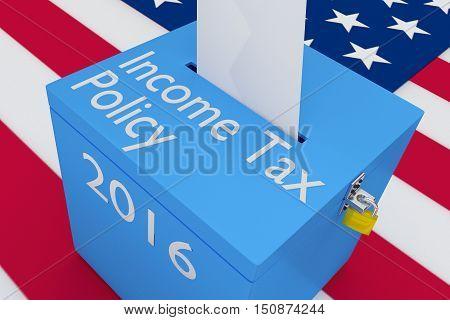Income Tax Policy Concept