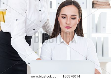 Woman Listening To Her Boss
