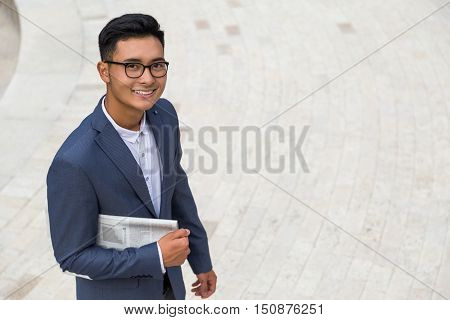 Portrait Of Successful Businessman From Asia