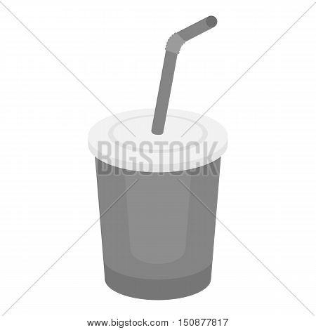 Coca-Cola vector illustration icon in monochrome design