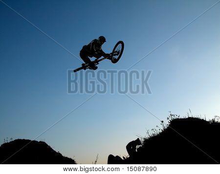 Mountain bike jump